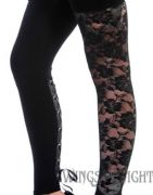 BANNED APPAREL Ladies Gothic Lace Leggings | Alternative Dark Clothing